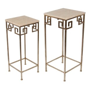 Guillelmina 2 Piece Marble Accent Tables