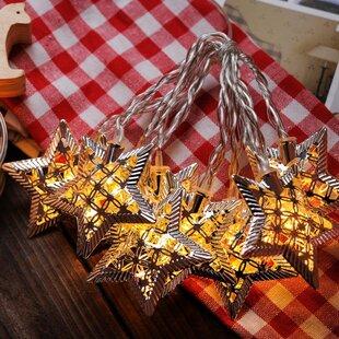 Festival Depot 10-Light 5.5 ft. Star String Lights