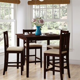 Atterberry 5 Piece Solid Wood Dining Set Charlton Home