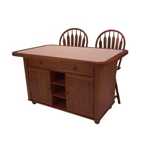 Perseus Kitchen Island Set With Terracotta Rose Tile Top 2019 Online