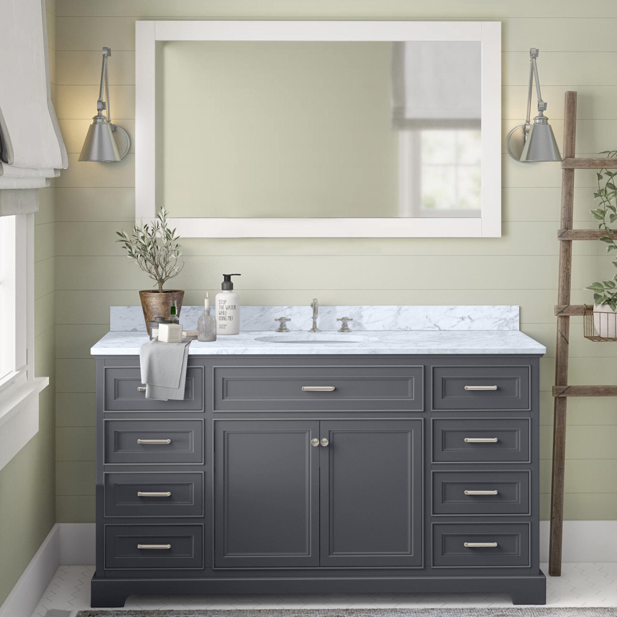 Birch Lane Eliason 60 Single Bathroom Vanity Set Reviews Wayfair