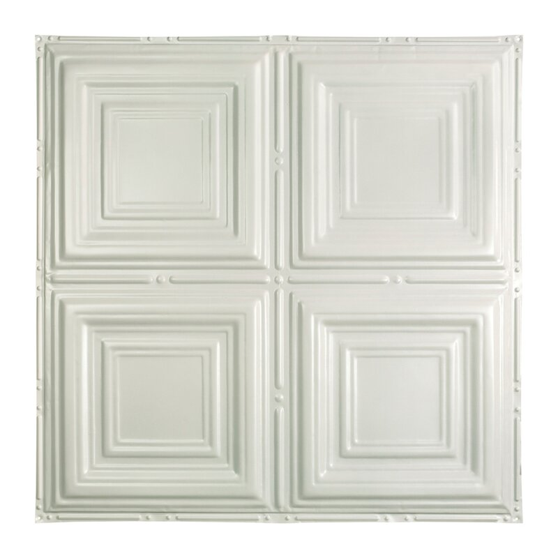 Greatlakestin Syracuse 2 Ft X 2 Ft Nail Up Ceiling Tile In Gloss White Wayfair