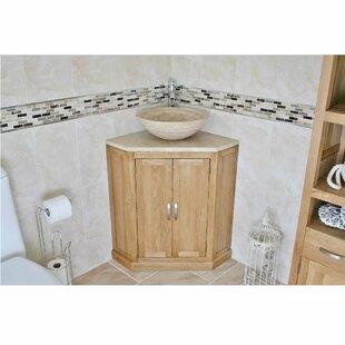 Debose Solid Oak 550mm Free-Standing Vanity Unit By Belfry Bathroom