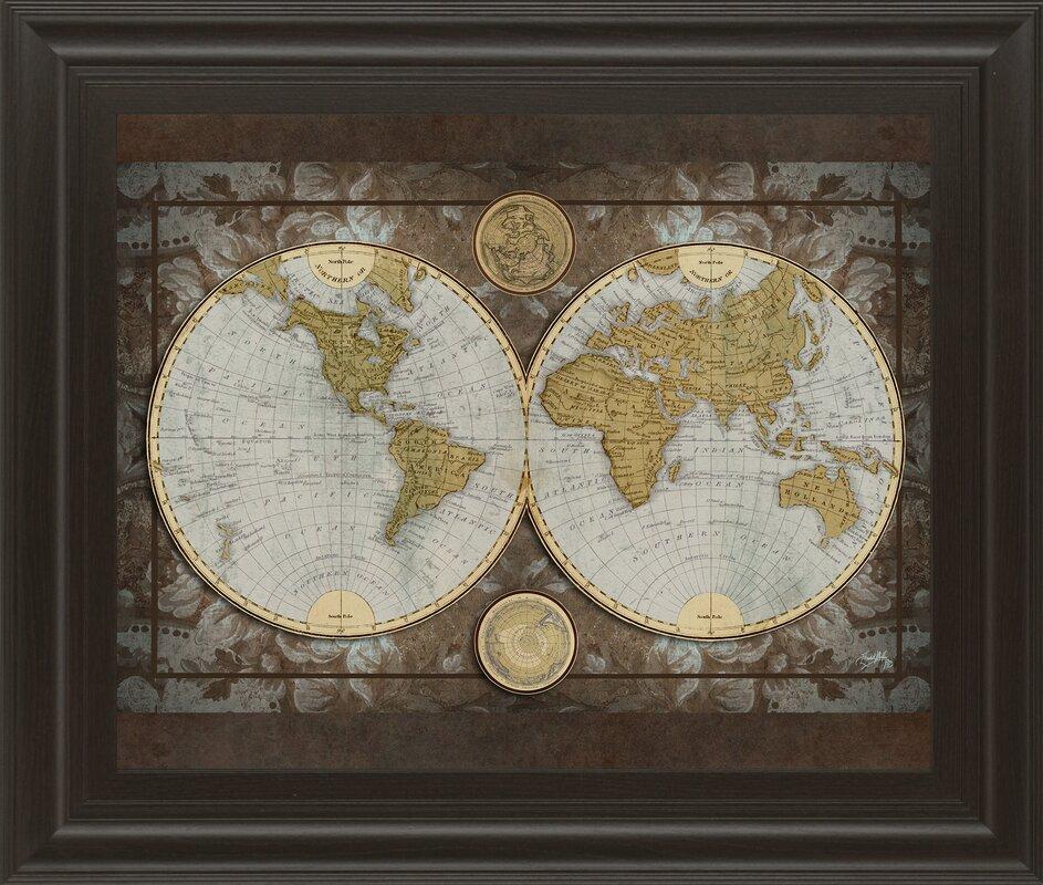 Worksheet. World Map Framed print  Reviews  Joss  Main