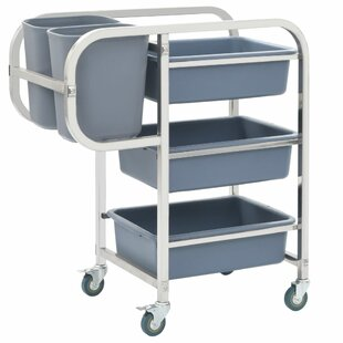 Lucrezia Kitchen Trolley With Plastic Top By Symple Stuff