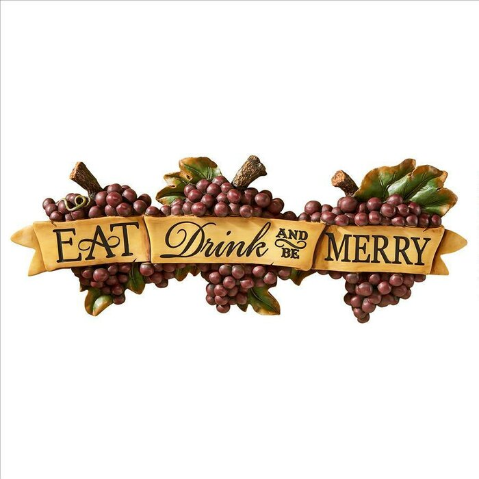 Eat Drink And Be Merry Wall Decor