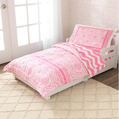 save to idea board lavender lace and chevron toddler bedding set