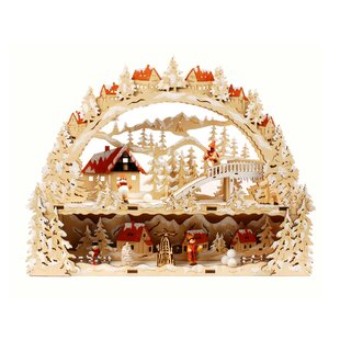 laser cut christmas village with lights