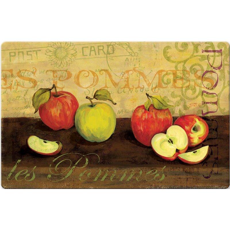 Les Pommas Apple Kitchen Mat