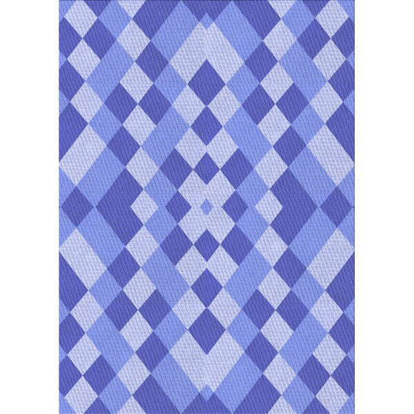 East Urban Home Charly Geometric Wool Blue Light Violet Area Rug Wayfair