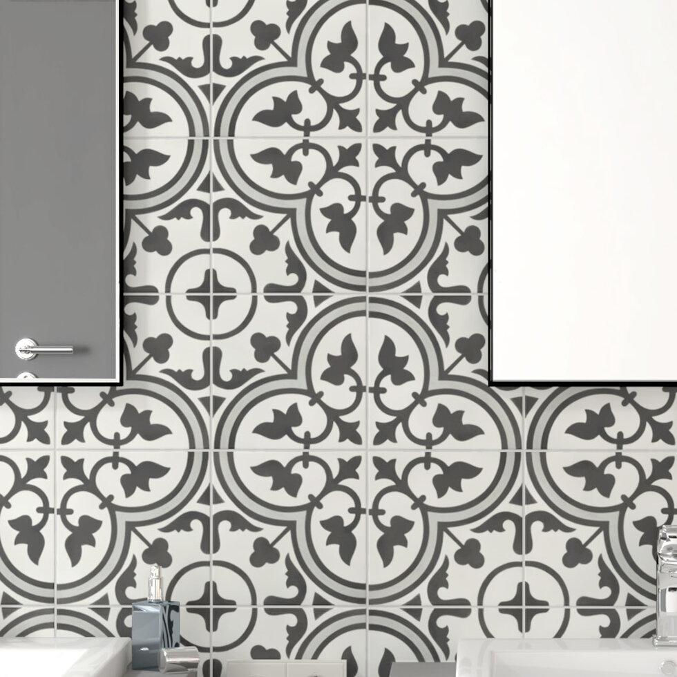 Elitetile Ciment Artea 8 X 8 Cement Wall Floor Tile Wayfair