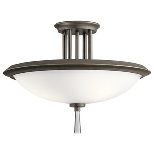 Melody 3-Light Semi Flush Mount by Latitude Run
