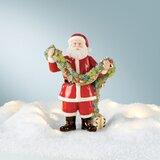 Ivory 1.85 Lenox Light-Up Christmas Gnome House Figurine