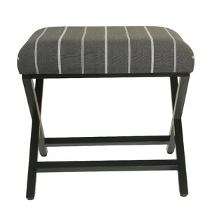 Penfield Stripe Modern Metal X-Base Ottoman by Gracie Oaks
