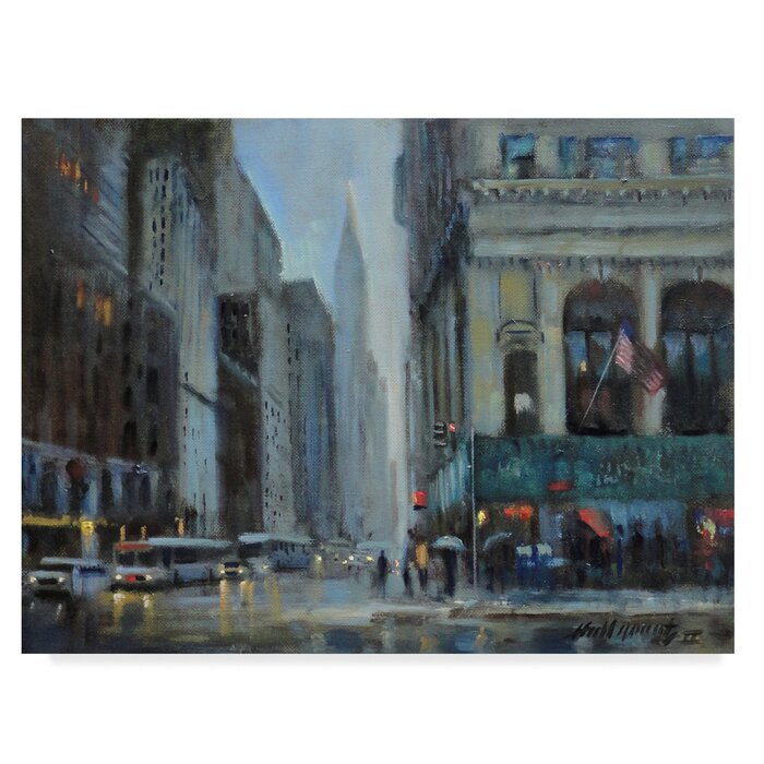 Chrysler Building Manhattan Acrylic Painting Print On Wrapped Canvas