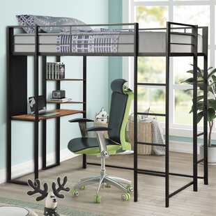Kalea Twin Loft Bed with Shelves and Desk
