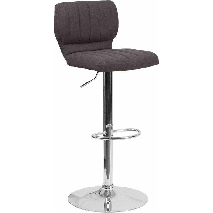 Excellent Whelan Low Back Adjustable Height Swivel Bar Stool Creativecarmelina Interior Chair Design Creativecarmelinacom
