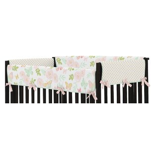 Inexpensive Butterfly Floral Crib Side Rail Guard Cover (Set of 2) BySweet Jojo Designs