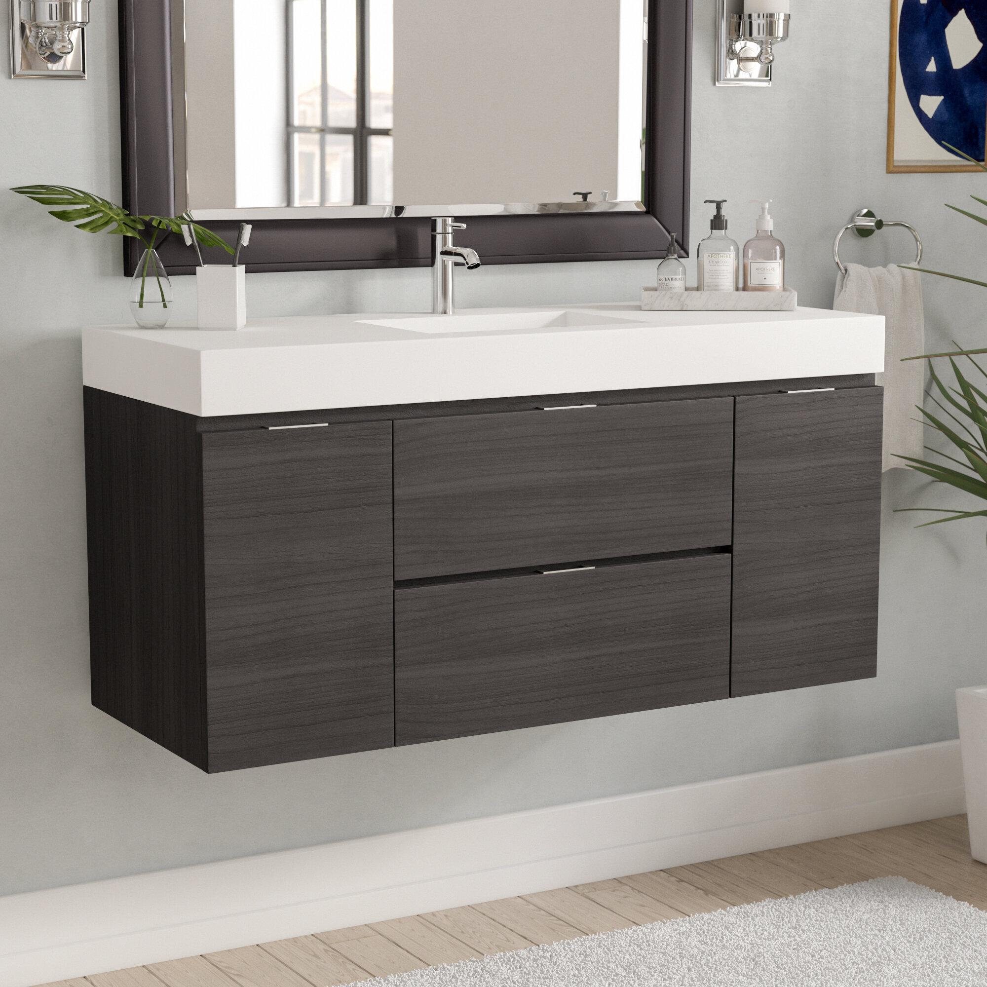 Wayfair Wade Logan Tenafly 48 Single Wall Mount Modern Bathroom