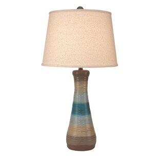 Hunter Ribbed Hour Glass Pot 33 Table Lamp