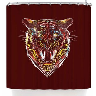 East Urban Home Frederic Levy-Hadida Stencil Tiger 2 Shower Curtain
