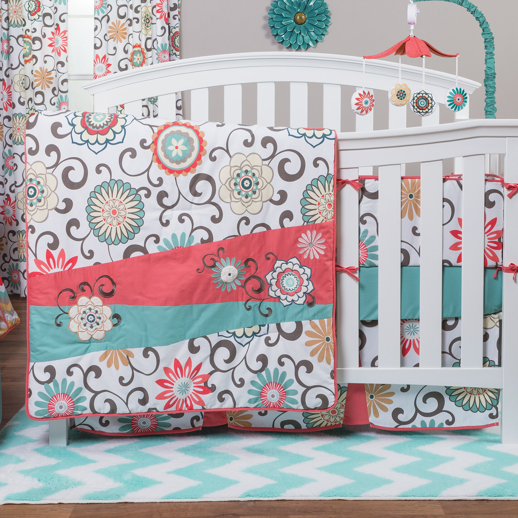 Trend Lab Pom Pom Play 4 Piece Crib Bedding Set Reviews Wayfair