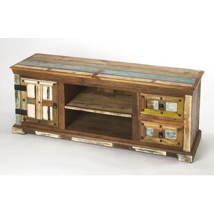 Enkhuizen Solid Wood TV Stand for TVs up to 65 by World Menagerie