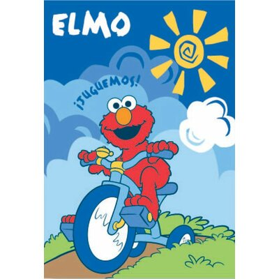 Royal Plush Extra Heavy Elmo Riding A Tricycle Blanket Ben And Jonah