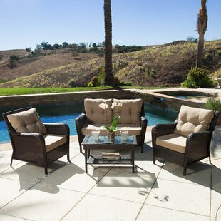 Rockland 4 Piece Sofa Set with Cushions