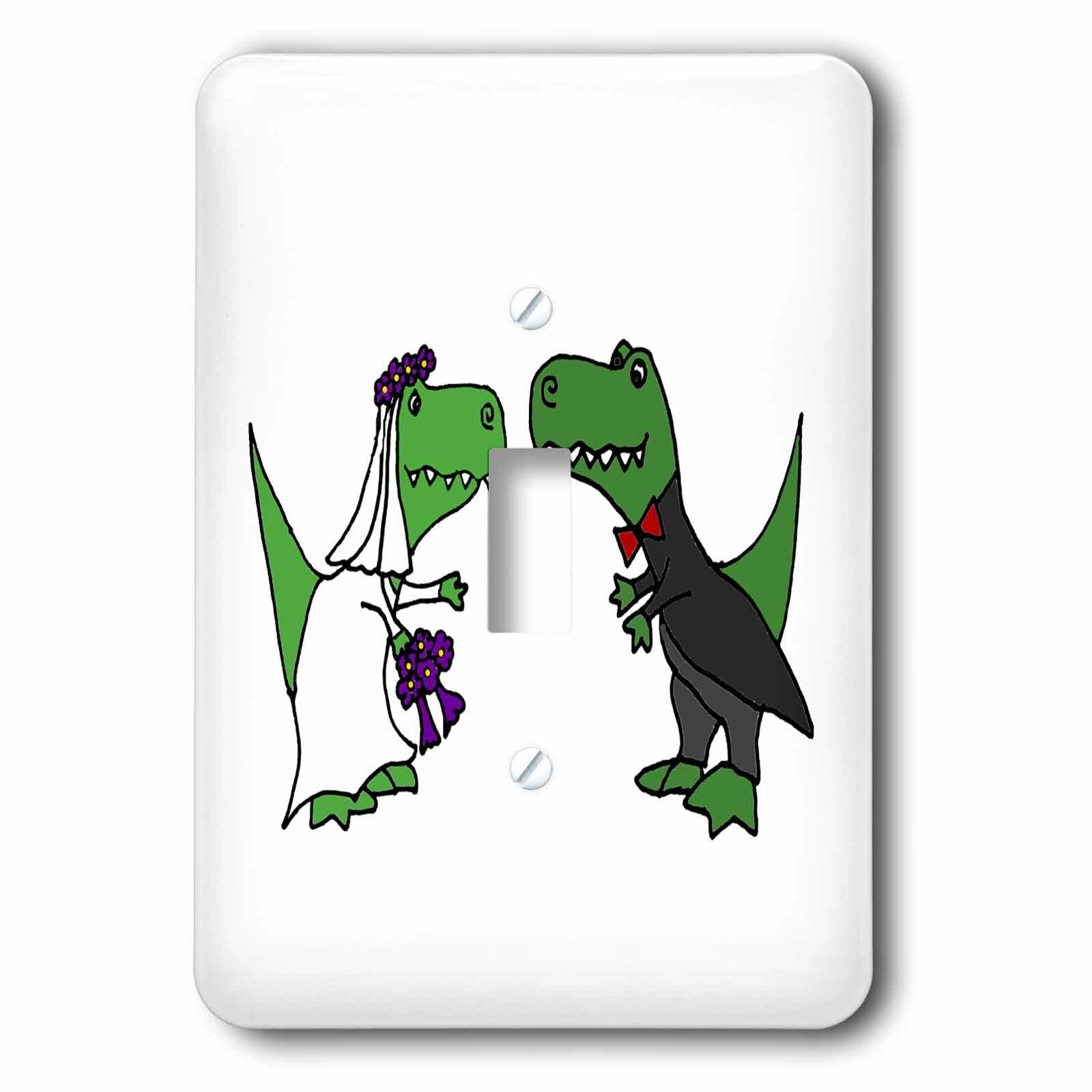 3drose T Rex Dinosaurs Wedding 1 Gang Toggle Light Switch Wall Plate Wayfair