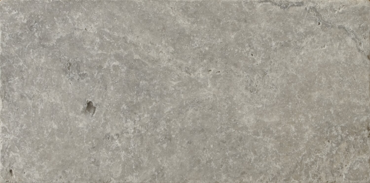 Travertine 8 X 16 Field Tile In Ancient Tumbled Silver