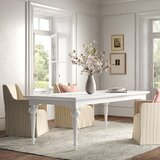 Vivien Mahogany Solid Wood Dining Table by Kelly Clarkson Home