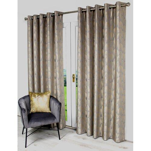 Helen Eyelet Room Darkening Thermal Curtains Willa Arlo Inte