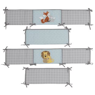 Best Choices Two of a Kind Animals 4 Piece Crib Bumper Set By Lambs & Ivy Signature