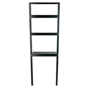Order Spurrier Leaning Desk with 2 Shelves in Black by Ebern Designs