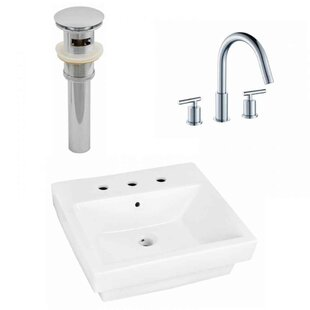 Inexpensive Above Counter Ceramic Rectangular Vessel Bathroom Sink with Faucet and Overflow By Royal Purple Bath Kitchen