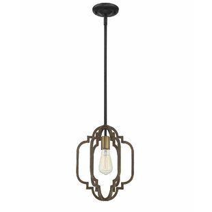 Robinette 1-Light Cylinder Pendant by House of Hampton