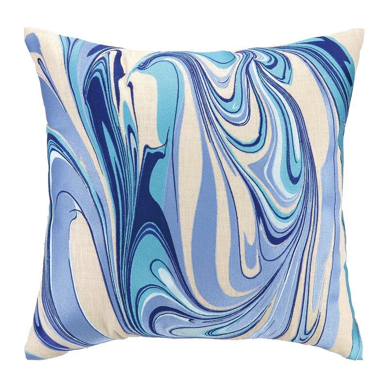 D L Rhein Marbled Madness Embroidered Decorative Linen Throw Pillow Wayfair