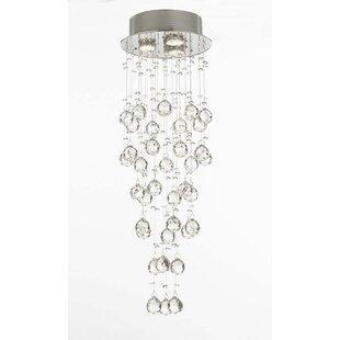 Affordable Price Antoninus 3-Light Crystal Pendant By Everly Quinn