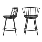 Lobardy 24 Swivel Bar Stool (Set of 2) by Laurel Foundry Modern Farmhouse