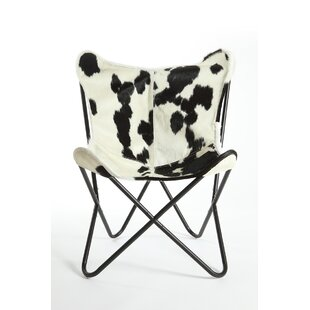 Foundry Select Cobham Butterfly Cowhide Lounge Chair