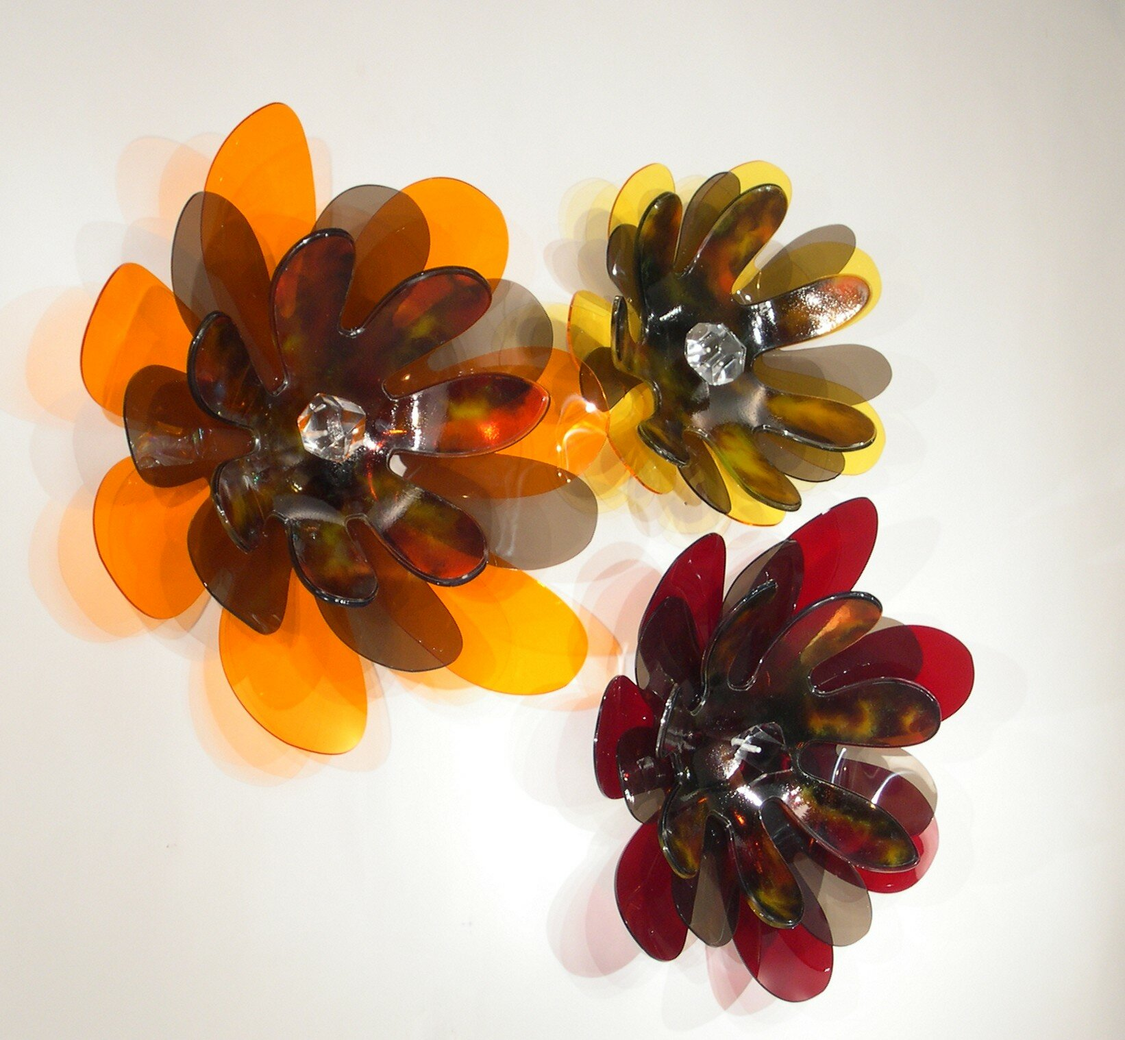 Shahrooz Flower Mod Acrylic Sculpture Wall Decor