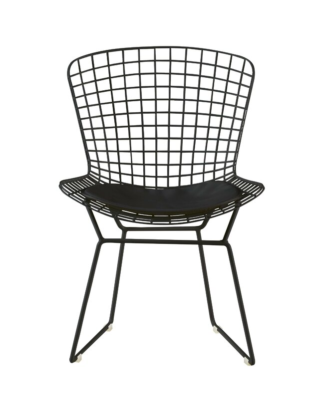Black Wire Metal Dining Chair Set #bertoia #modern #wire #chair