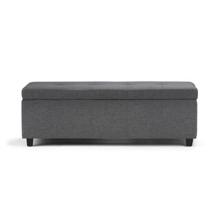 Charlton Home Burkeville Upholstered Storage Bench