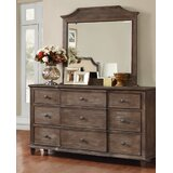Baston 9 Drawer Dresser with Mirror