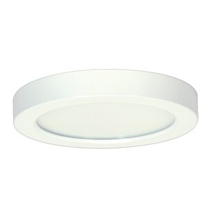 Comparison Elzy Round 1-Light LED Flush Mount By Orren Ellis