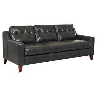 Orleans Tufted Leather Sofa by Klaussner Furniture New Design