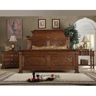 Burgundy Eastern King Panel Configurable Bedroom Set by Eastern Legends