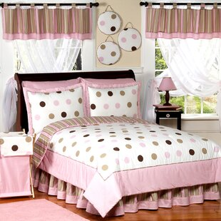 Sweet Jojo Designs Mod Dots Pink Kid Bedding Comforter Collection