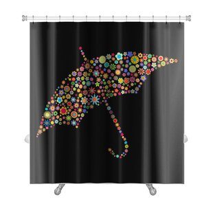 Flowers Umbrella Shape Made Up a Lot of Small Flowers Premium Single Shower Curtain